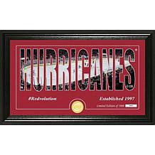 NHL Silhouette Panoramic Bronze Coin Photo Mint - Carolina Hurricanes