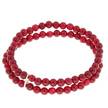 Nicky Butler 4mm Gemstone Bead Double Row Stretch Bracelet