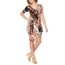 ff0d6942d96 ... Nina Leonard Printed 2-in-1 Style Tunic Dress ...