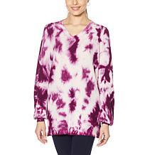 Nina Leonard Tie Dye Pullover Sweater