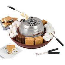 Nostalgia Lazy Susan Flameless Indoor S'Mores Maker