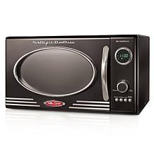 Nostalgia Retro 800-Watt Countertop Microwave Oven in Black