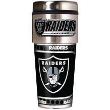 Oakland Raiders Travel Tumbler w/ Metallic Graphics and