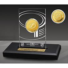 Officially Licensed 3X Stanley Cup Champs Coin in Display - Lightning