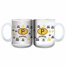"Officially Licensed MLB ""#1 Dad"" 15 oz. White Mug - Pirates"