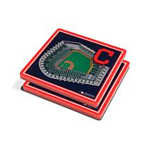 Officially Licensed MLB 3D StadiumViews Coaster Set- Cleveland Indians