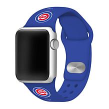 Officially Licensed MLB Blue 38/40mm Apple Watch Band - Chicago Cubs