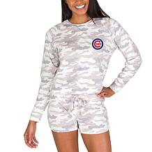 Officially Licensed MLB Concept Sport Ladies Top and Short - Cubs