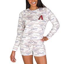 Officially Licensed MLB Concept Sport Ladies Top & Shorts-Diamondbacks