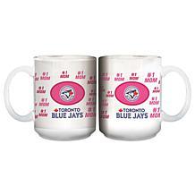 """Officially Licensed MLB """"Mom"""" White Mug - Blue Jays"""