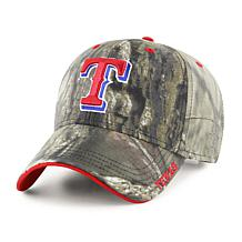 Officially Licensed MLB Mossy Oak Adjustable Hat  - Texas Rangers