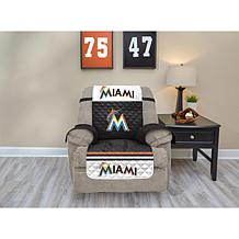 Officially Licensed MLB  Recliner Furniture Protector - Marlins