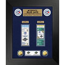 Officially Licensed MLB WS Gold Coin & Ticket Collection - Toronto