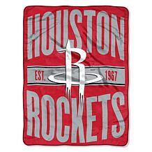 Officially Licensed NBA Clear Out Micro Raschel Throw Blanket- Rockets