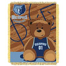 Officially Licensed NBA Grizzles Half-Court Baby Woven Jacquard Throw