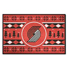 Officially Licensed NBA Holiday Sweater Starter Mat- Trail Blazers