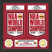 Officially Licensed NBA Houston Rockets Banner Bronze Coin Photo Mint