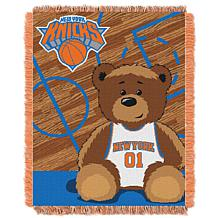 """Officially Licensed NBA Knicks """"Half-Court"""" Baby Woven Jacquard Throw"""