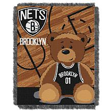 """Officially Licensed NBA Nets """"Half-Court"""" Baby Woven Jacquard Throw"""