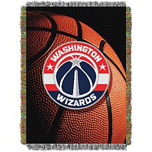 """Officially Licensed NBA """"Photo Real"""" Woven Tapestry Throw - Wizards"""