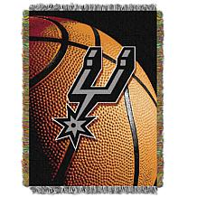"""Officially Licensed NBA """"Photo Real"""" Woven Tapestry Throw - Spurs"""