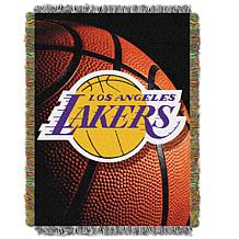 """Officially Licensed NBA """"Photo Real"""" Woven Tapestry Throw - Lakers"""