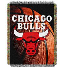 """Officially Licensed NBA """"Photo Real"""" Woven Tapestry Throw - Bulls"""