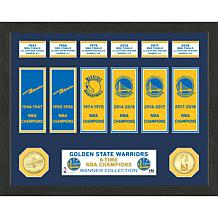 Officially Licensed NBA Warriors Banner Bronze Coin Photo Mint