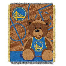 Officially Licensed NBA Warriors Half-Court Baby Woven Jacquard Throw