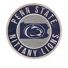 """Officially Licensed NCAA 12"""" Circle Sign with State & Logo"""