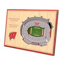 Officially-Licensed NCAA 3-D StadiumViews Display - Wisconsin Badgers