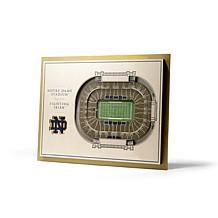 Officially Licensed NCAA 5-Layer StadiumViews 3-D Wall Art- Notre D...