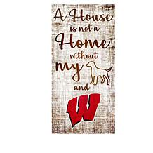 Officially Licensed NCAA A House is Not a Home Sign