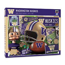 Officially Licensed NCAA Washington Huskies Retro 500-Piece Puzzle