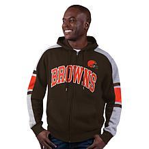 Officially Licensed NFL Black Label Full-Zip Fleece Hoodie by Glll