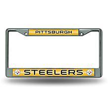 Officially Licensed NFL Bling Chrome Frame - Steelers