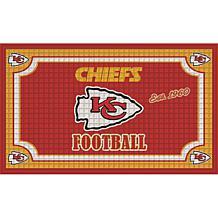 Officially Licensed NFL Embossed Door Mat - Chiefs