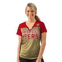 Officially Licensed NFL For Her Shake Down Short-Sleeve Tee  by Glll