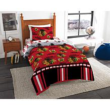 Officially Licensed NHL Twin Bed In a Bag Set - Chicago Blackhawks