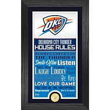 Officially Licensed Oklahoma City Thunder House Rules Coin Photo Mint