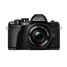 Olympus OM-D E-M10 Mark III Camera with SD Card and EZ Lens Bundle