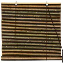 Oriental Furniture Multicolored Burnt Bamboo Blinds