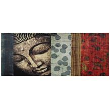 Oriental Furniture Peaking Buddha Canvas Wall Art