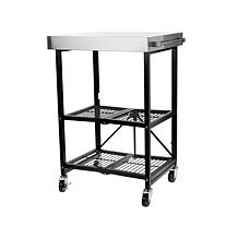 Origami Pro Stainless Steel Foldable Kitchen Cart