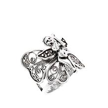 Ottoman Silver Butterfly Angel Filigree Ring