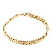 "Passport to Gold 14K Gold Wheat Chain 7-1/4"" Bracelet"
