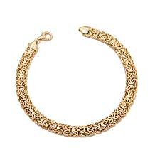 "Passport to Gold 14K Mirror Byzantine Link 8"" Bracelet"