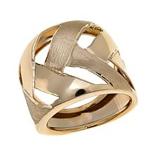Passport to Gold 14K Yellow Gold Basketweave Ring