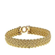 "Passport to Gold Diamond-Accented 14K Rope Weave 8"" Bracelet"