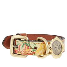 Patricia Nash Adjustable Leather Pet Collar - XS